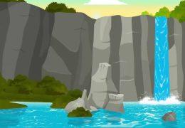 Анимированный водопад