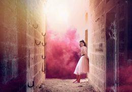 Газ пурпурного розового цвета живые обои