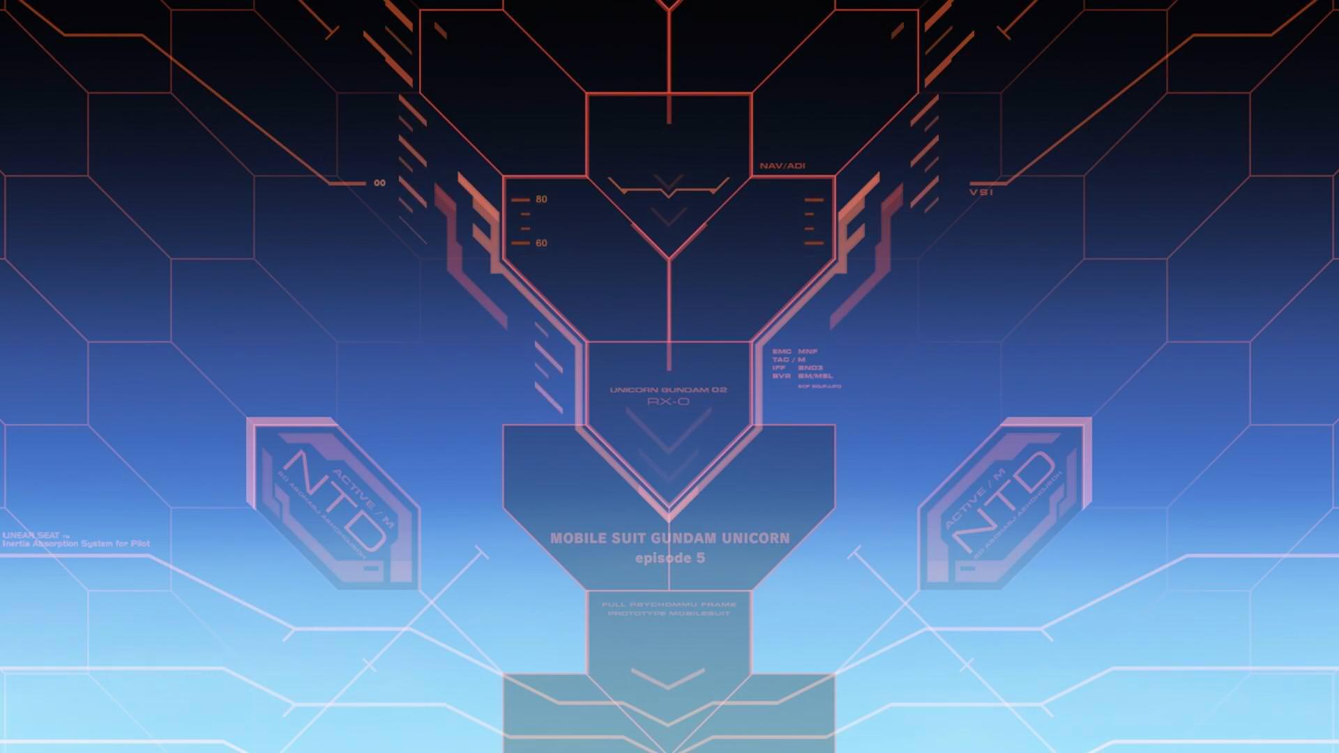 Gundam Unicorn Menu Vol.05 - живые обои