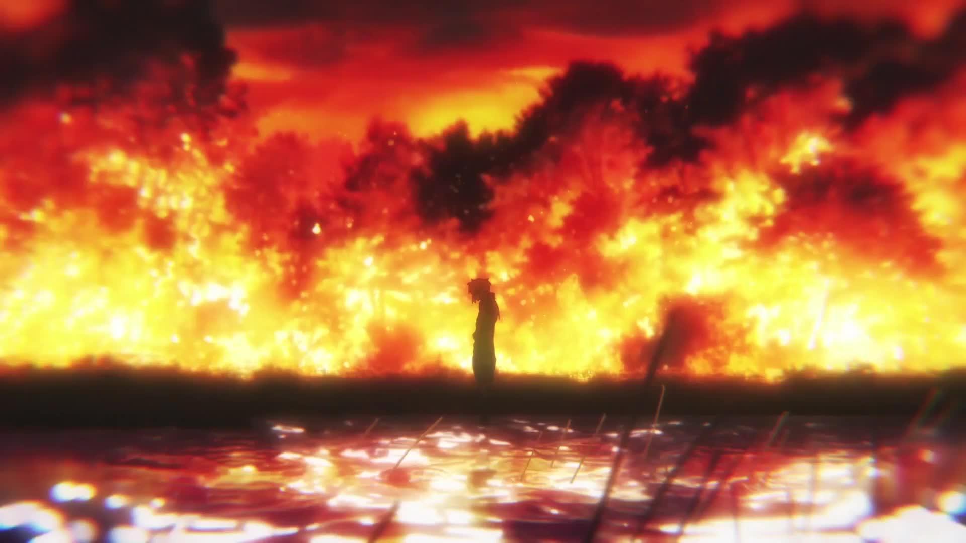 Violet Evergarden мир в огне - живые обои