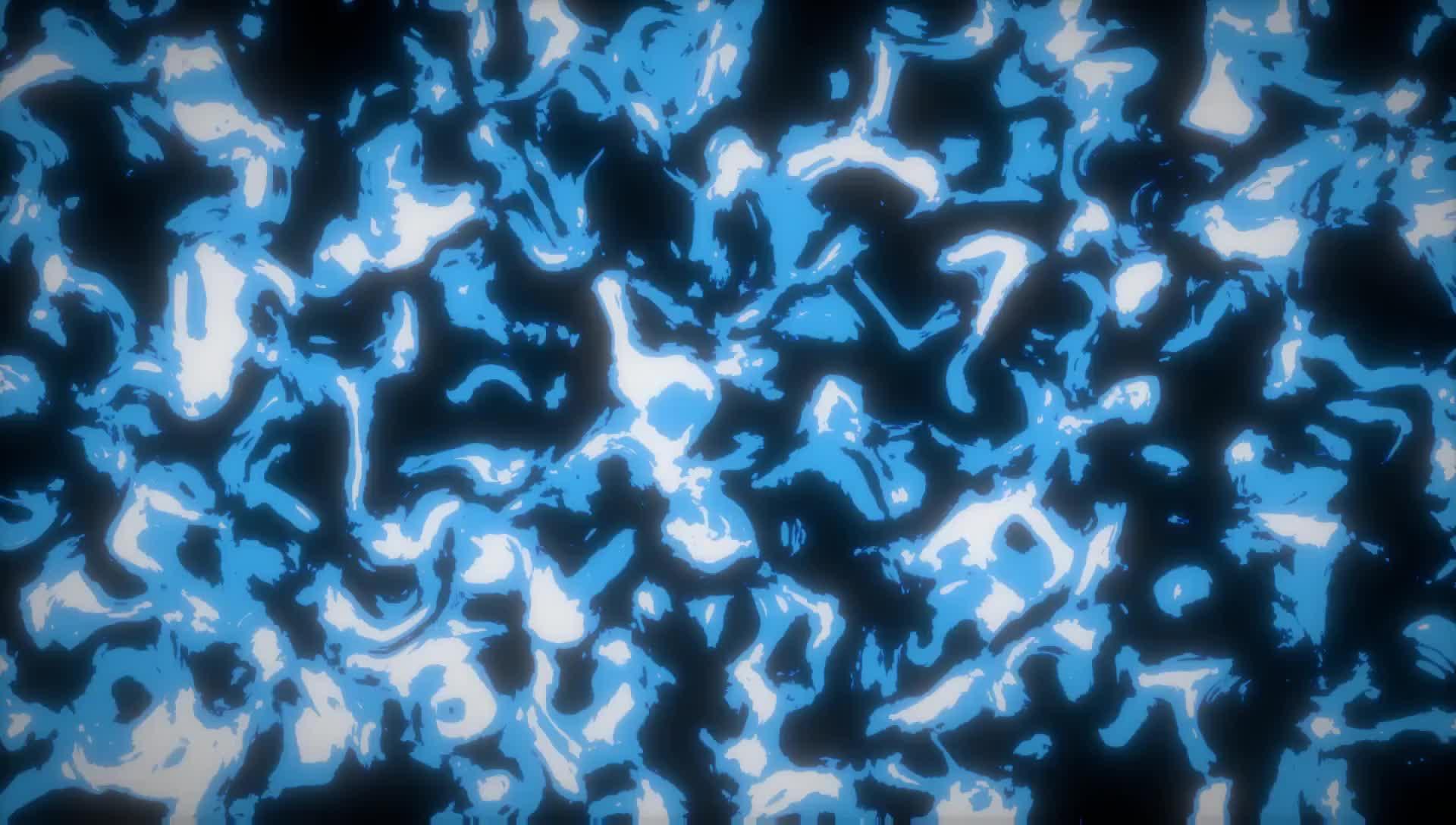Синие белые помехи - абстракция на рабочий стол