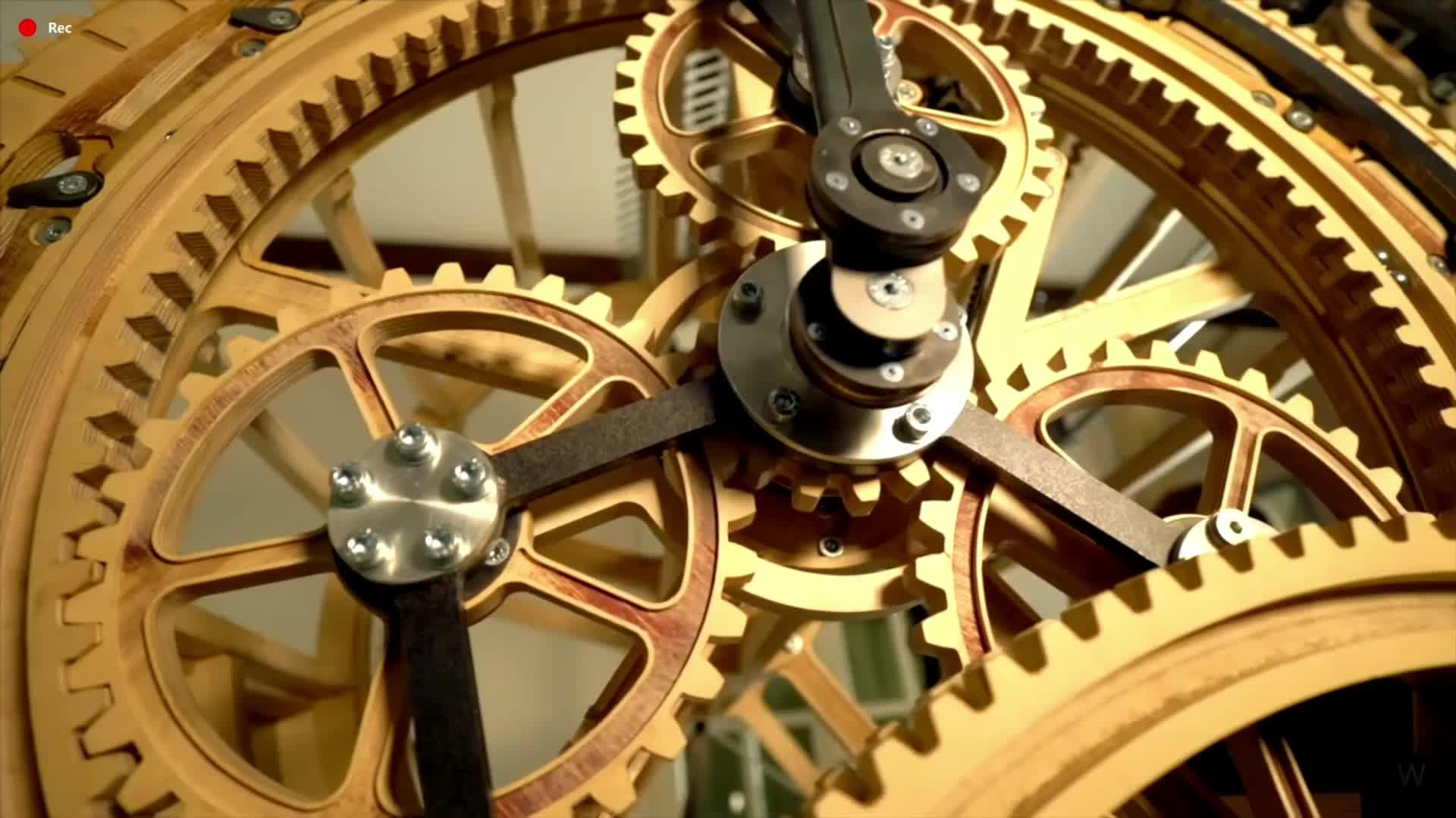 Часовой Механизм из Шестерёнок - Живые Обои