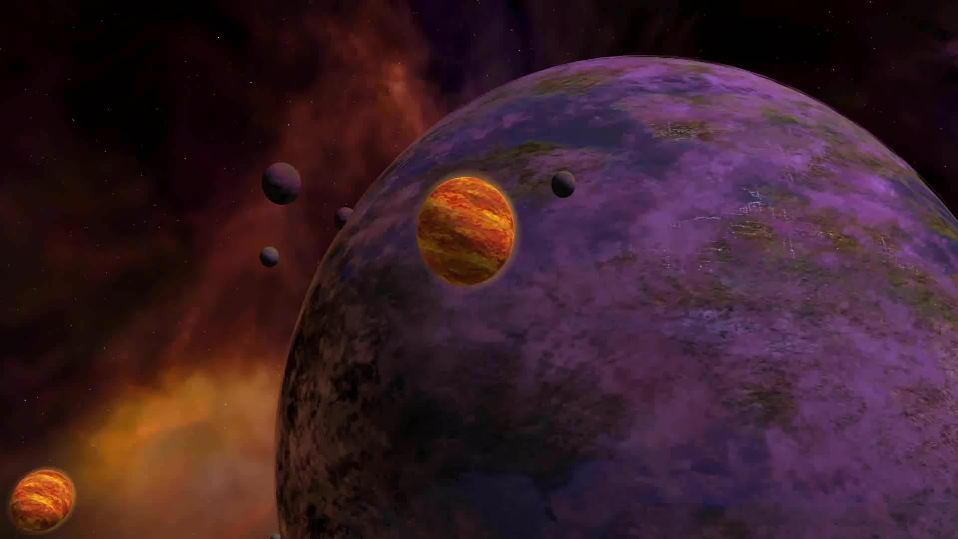 Парад планет - живые обои