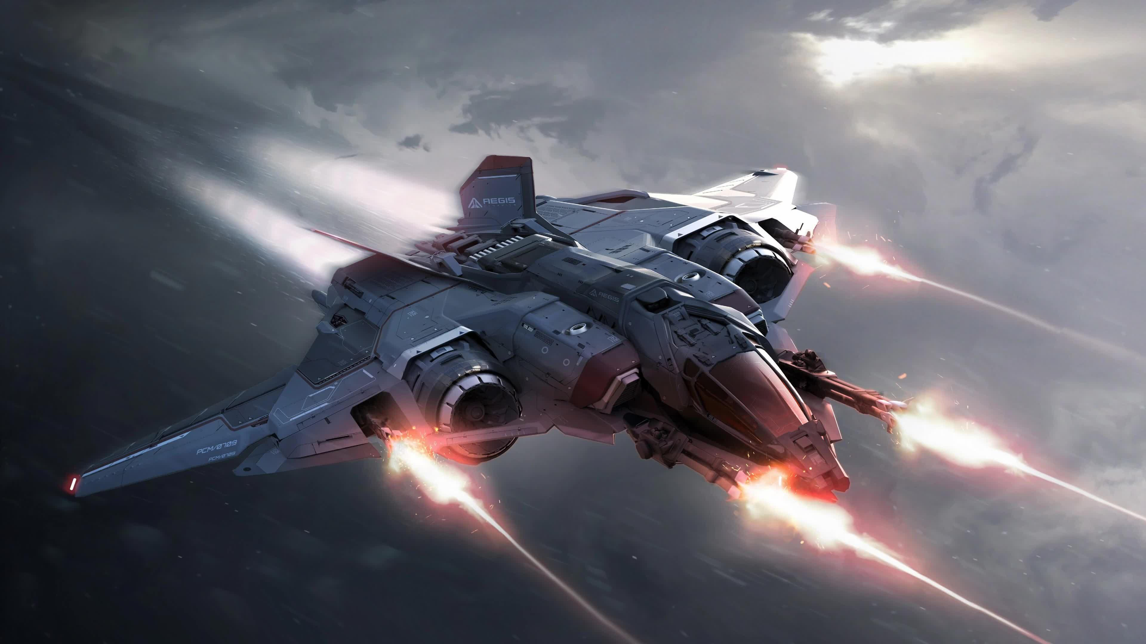 Star Citizen Космический Корабль 4K - Живые Обои