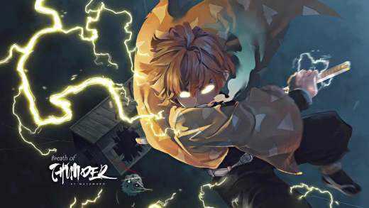 Агацума Зеницу - Клинок рассекающий демонов - Живые Обои
